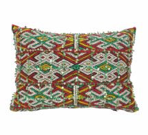 Moroccan Kilim Cushion Vintage Authentic Wool Hand Embroidered Hand Stitched 55 cm x 40 cm VC36
